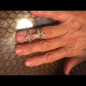 Jewelry - .925 Sterling Silver wedding set